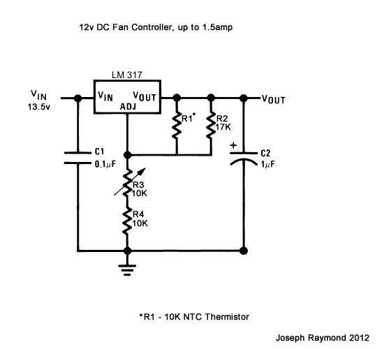 12v LM317 Fan Controller v1.1