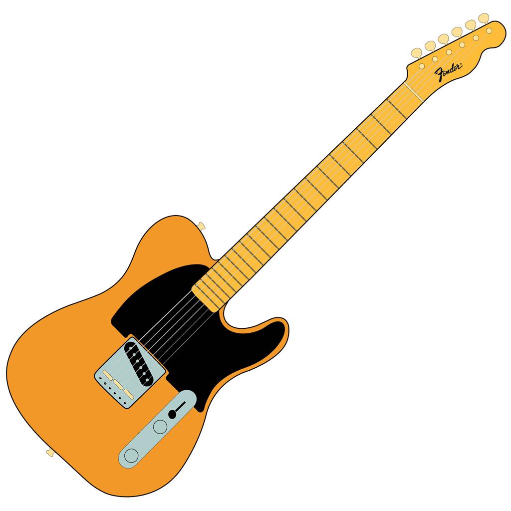 Joe's Fender Esquire - Vector Style