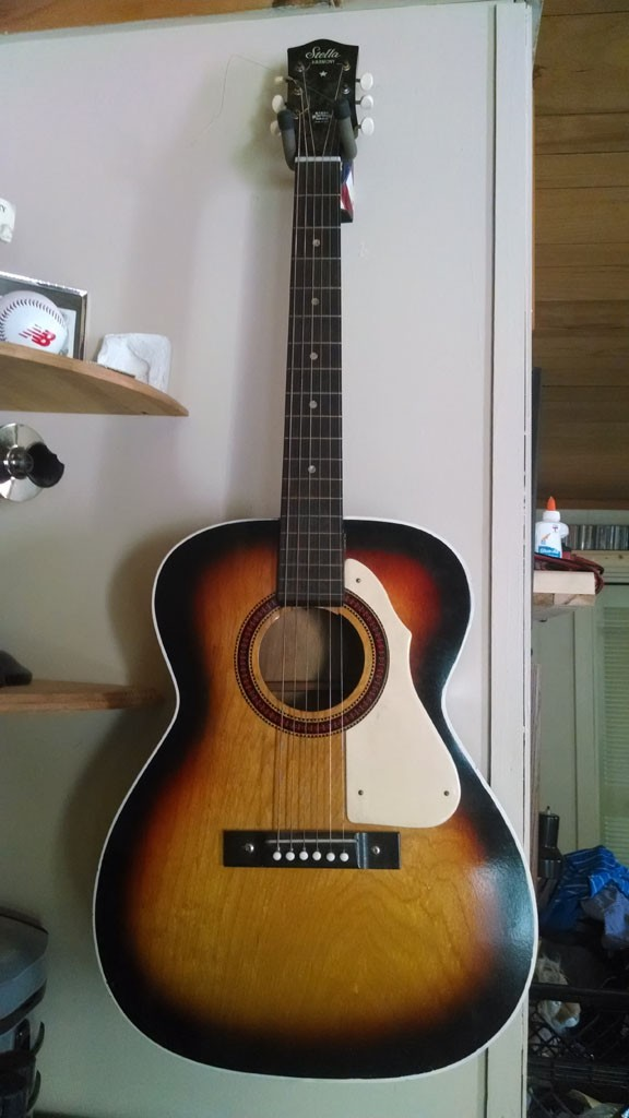 My mid 1970's Harmony Stella acoustic guitar.