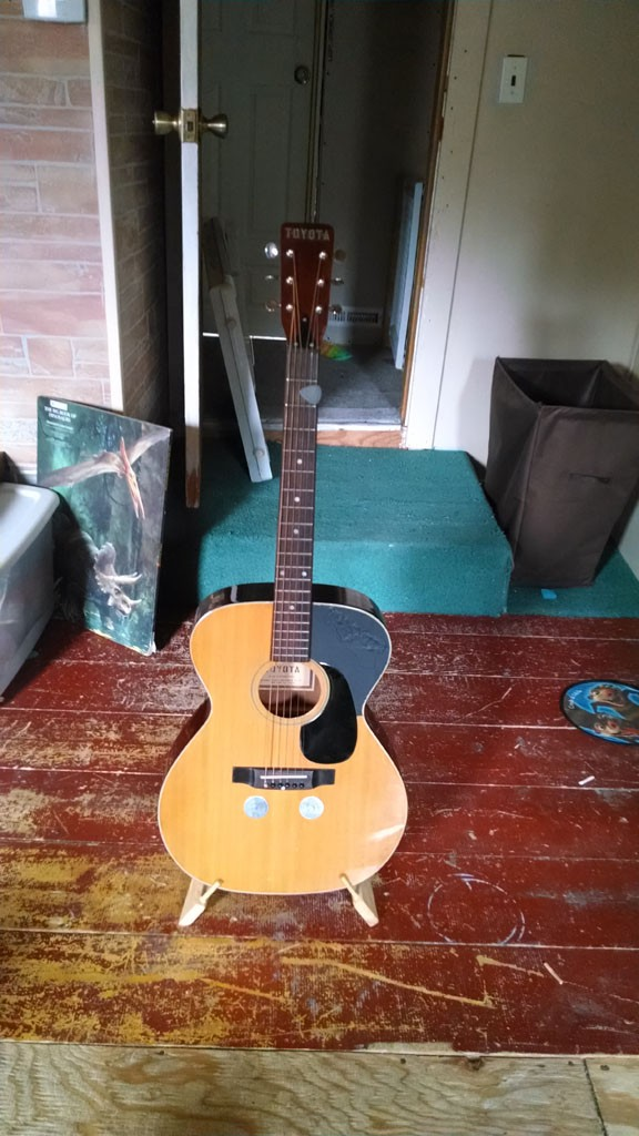 My mid 1970's Toyota acoustic guitar.