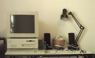 Apple Quadra 650 set up as webserver, circa 2004.