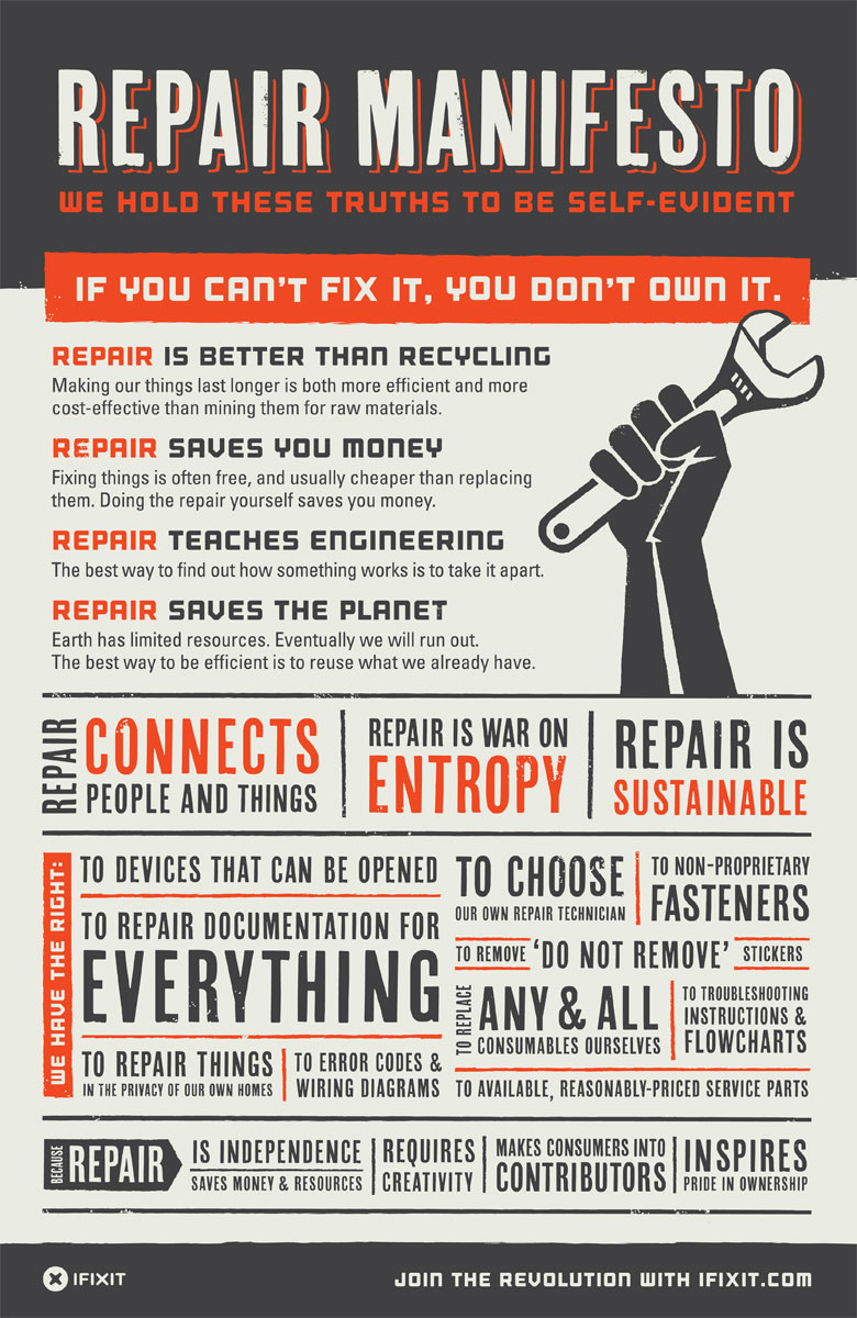 iFixit.com Repair Manifesto